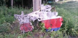 MH17 port side shrapnel damage